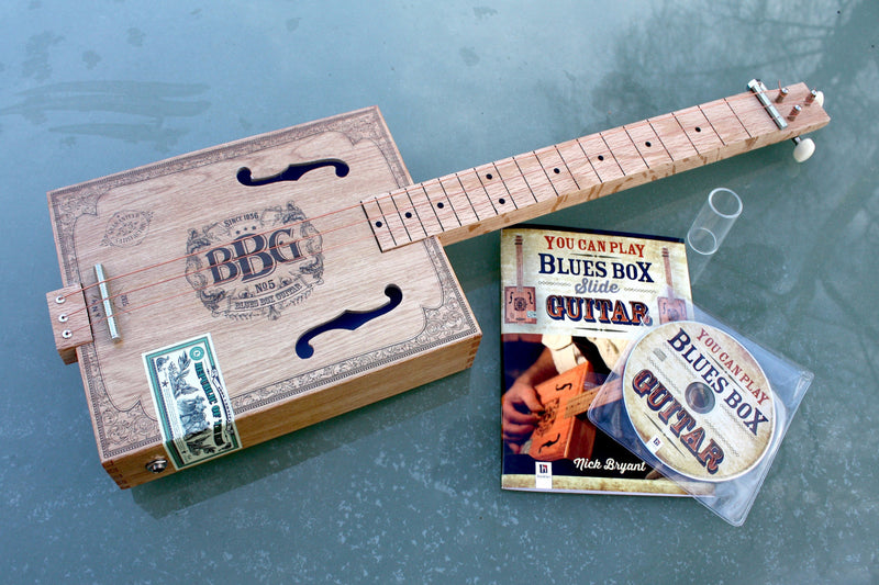 Blues Box 3 String Guitar with book and C.D