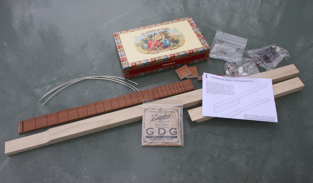 Aroma de C. 3 String Cigar Box Guitar Kit