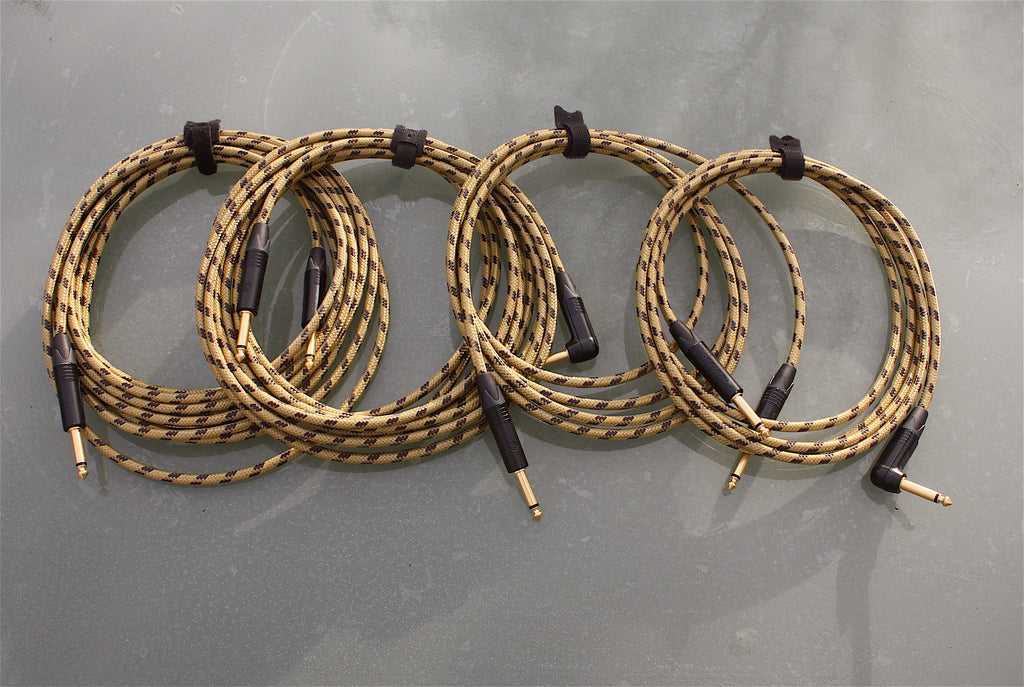 Custom sommer classique & neutrik tweed guitar lead, available in various lengths with straight or angled jack plugs.