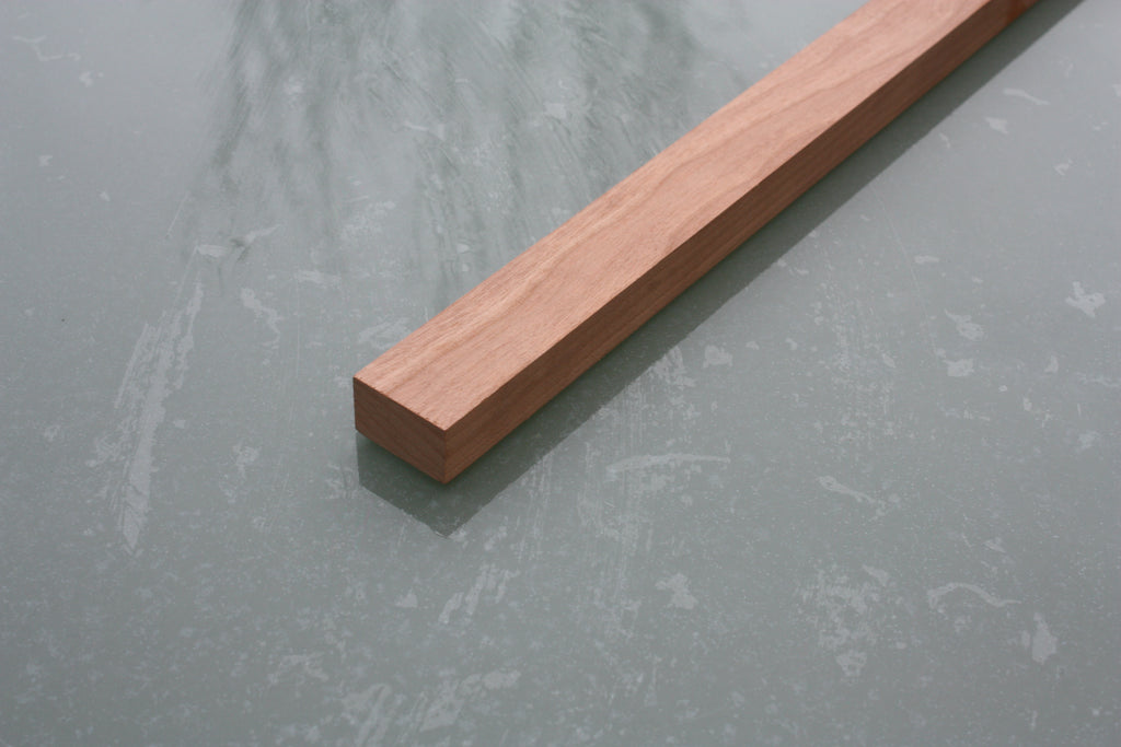 Cherry wood neck blank, 42 x 22 x 900mm, ideal for 4 and 3 string cigar box guitars.