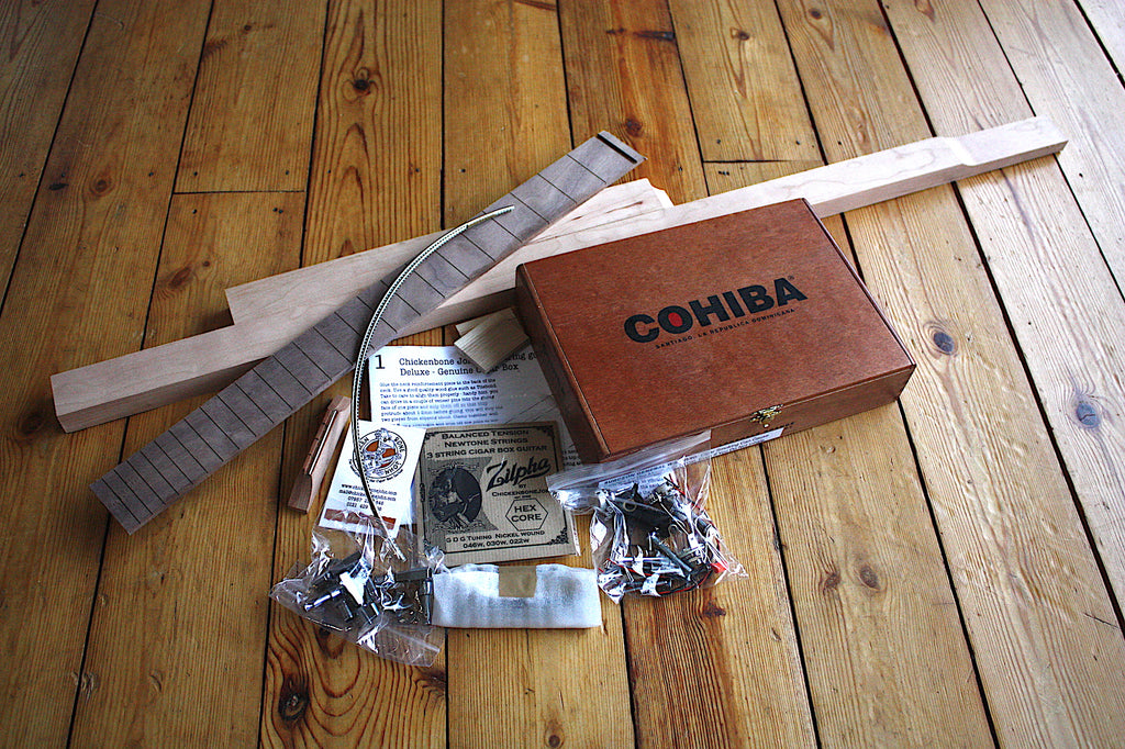 Cohiba Deluxe - 3 String Cigar Box Guitar Kit