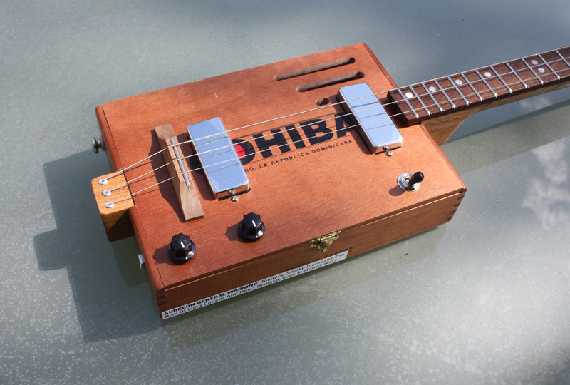 Cohiba - twin humbucker 3 String Cigar Box Guitar