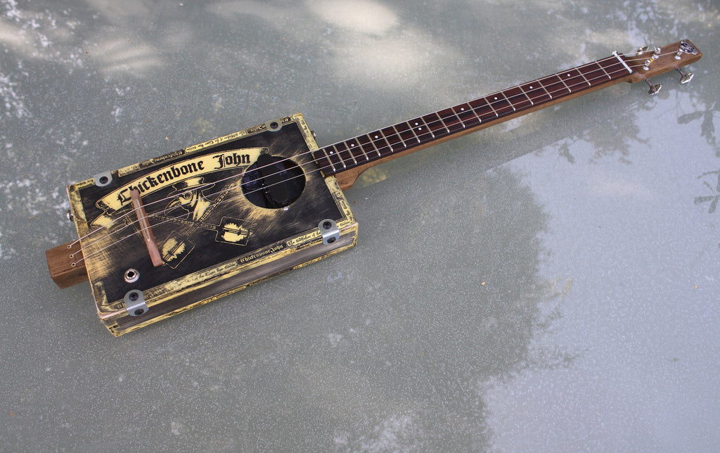Workshop Series, Plague Doctor distressed - 3 String Cigar Box Guitar