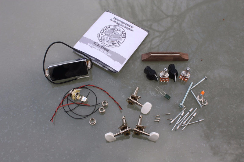 Cigar Box Guitar Hardware Pack - Humbucker pickup 'Deluxe' pack