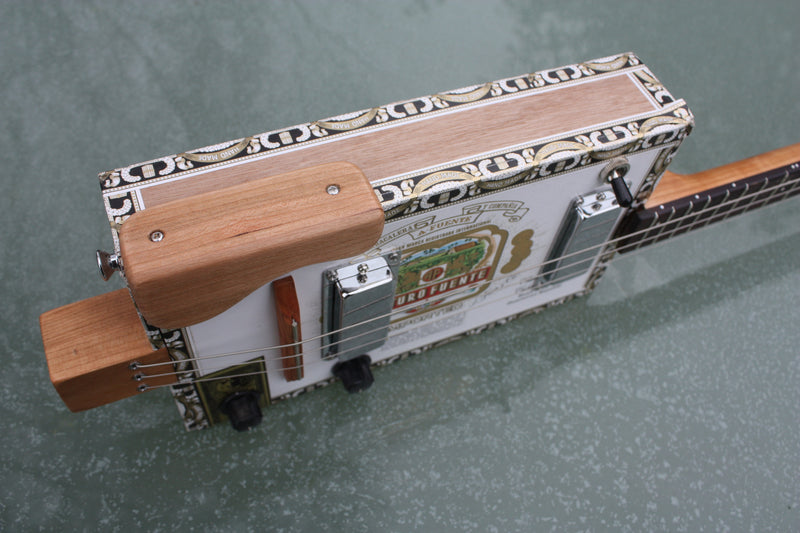 Arturo Fuente twin humbucker pickup cigar box guitar