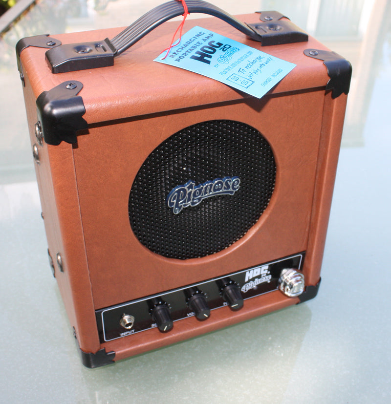 Pignose Hog 20 rechargable battery amplifier.