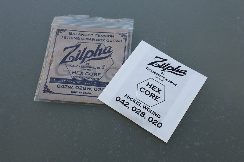 "Zilpha Strings - Balanced Tension ""Light Gauge"" GDG (Nickel)"