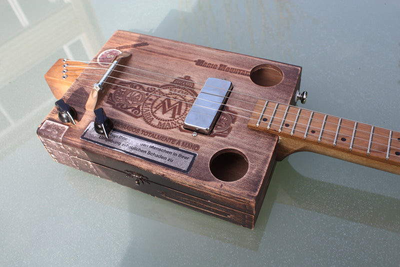 Magic Mountain - 4 String humbucker Cigar Box Guitar