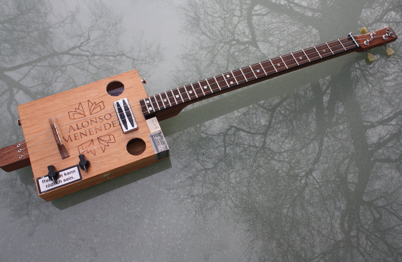 Menendez - 3 String humbucker Cigar Box Guitar
