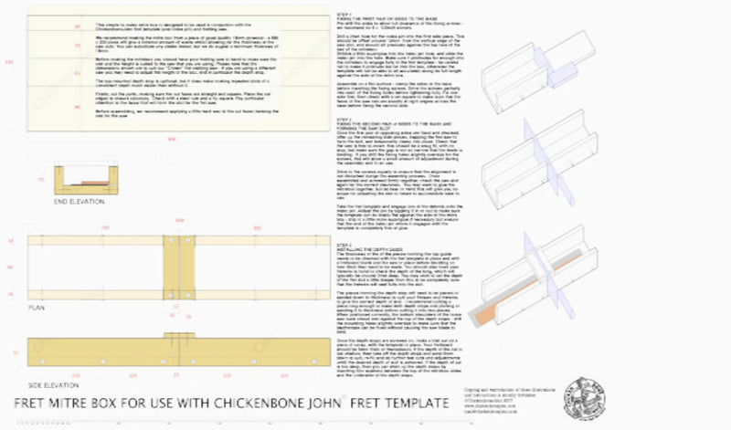 Mitre box drawing  - PDF digital download