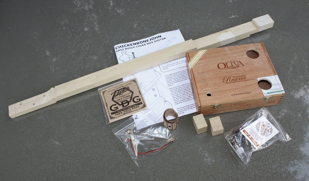 "Easy Build ""Oliva"" Cigar Box Guitar Kit"