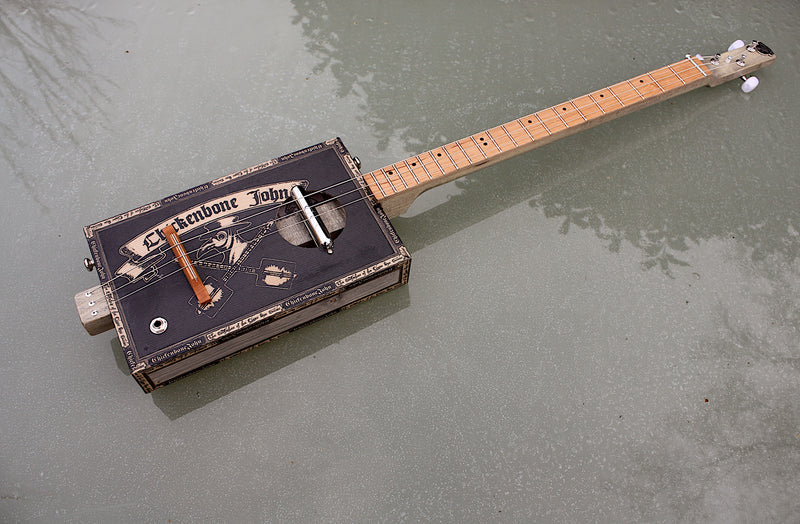 "Workshop Series ""Lipstick"" p/u, Plague Doctor - 3 String Cigar Box Guitar"