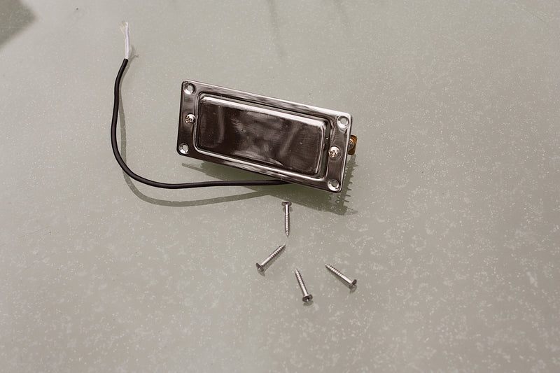 Mini Humbucker Pickup, with chrome steel mounting ring
