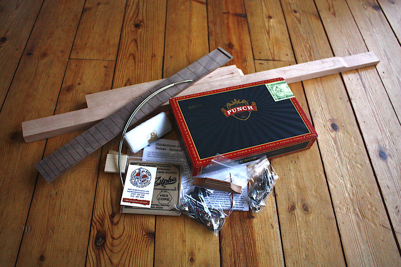 Punch Deluxe - 3 String Cigar Box Guitar Kit