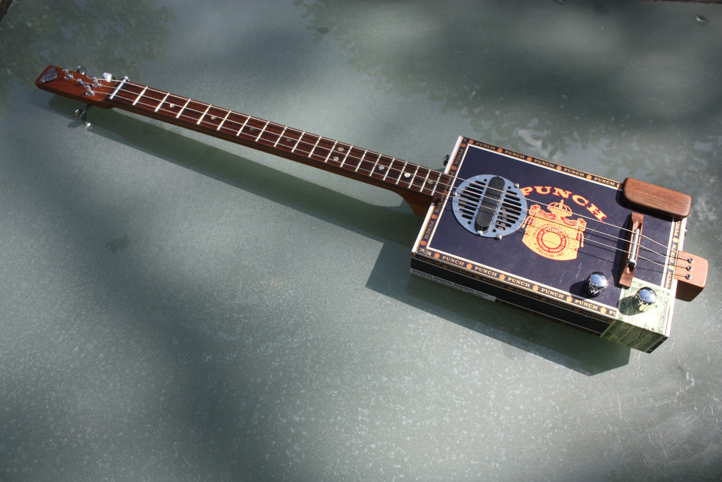Punch - LEFTY 3 String Cigar Box Guitar