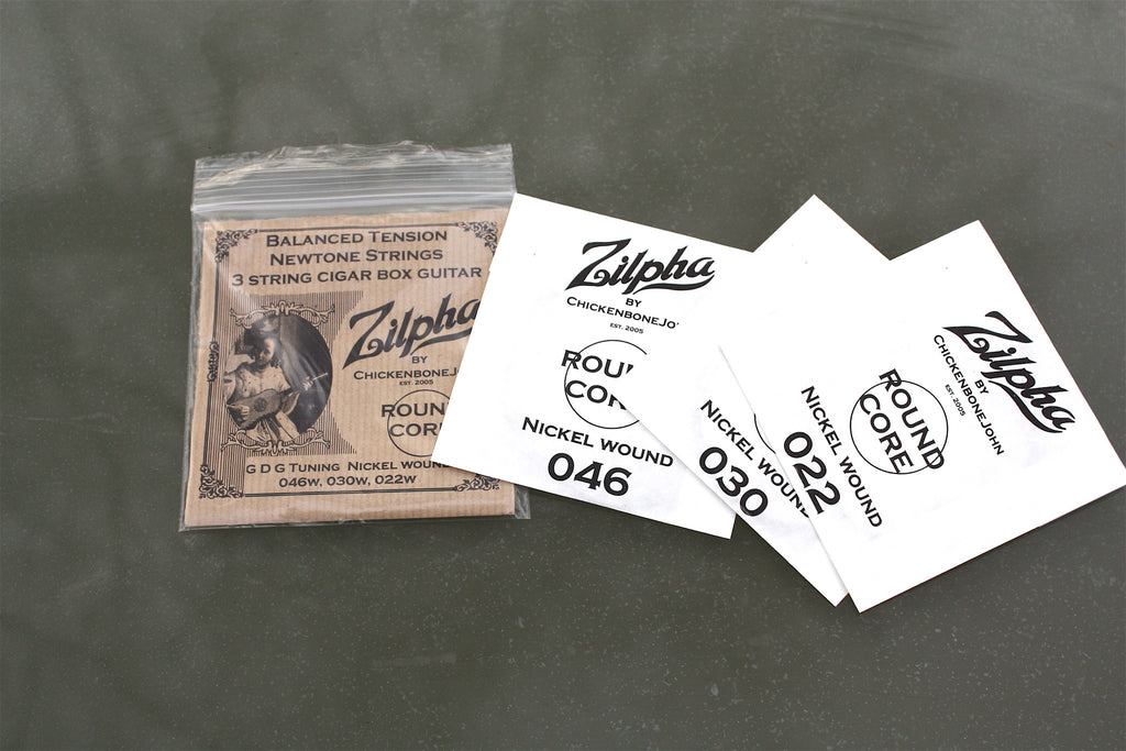 Zilpha Newtone Custom Gauge Nickle Strings - Roundcore GDG
