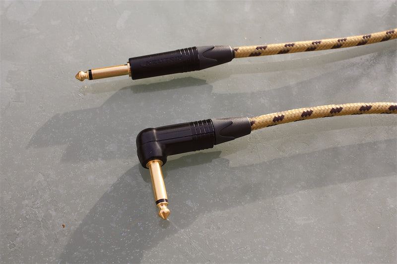Custom sommer classique & neutrik tweed guitar lead, available with straight and angled jack plugs.