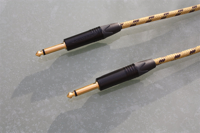 Custom sommer classique & neutrik tweed guitar lead, available with straight jack plugs.