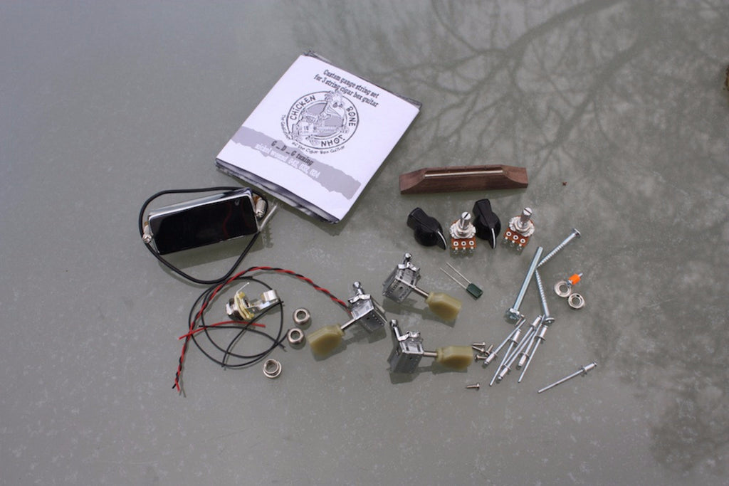 Cigar Box Guitar Hardware Pack - Humbucker pickup 'Super' pack