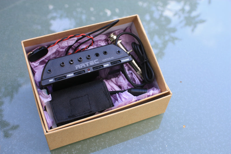 Artec Vertex-M soundhole pickup for acoustic guitar - humbucker/piezo/mic blender