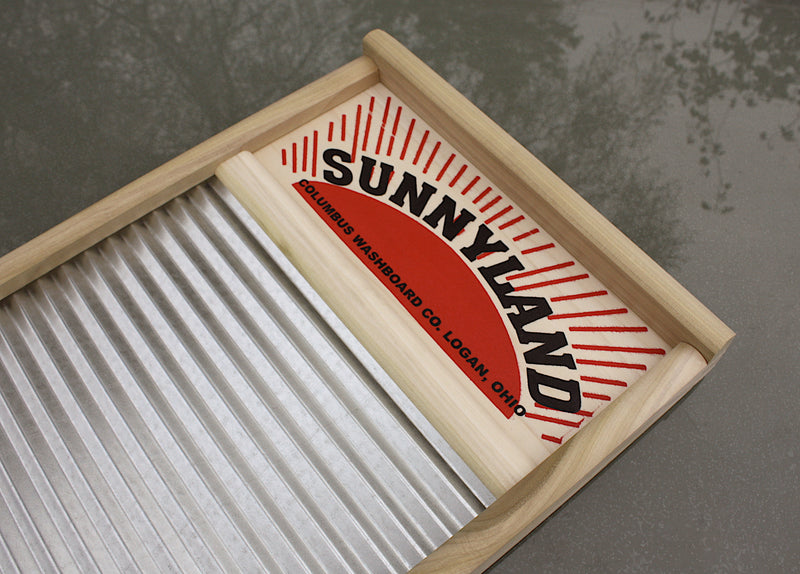 """Sunnyland"" USA made full-size washboard. Authentic skiffle & cajun percussion sound."