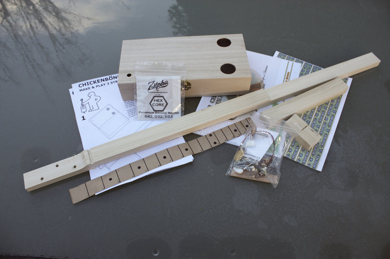 "Easy Build ""Workshop"" 3 String Guitar Kit"