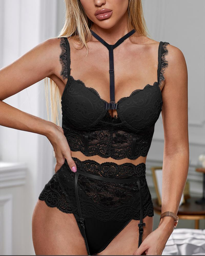 Cutout Lace Lingerie Bra Sets