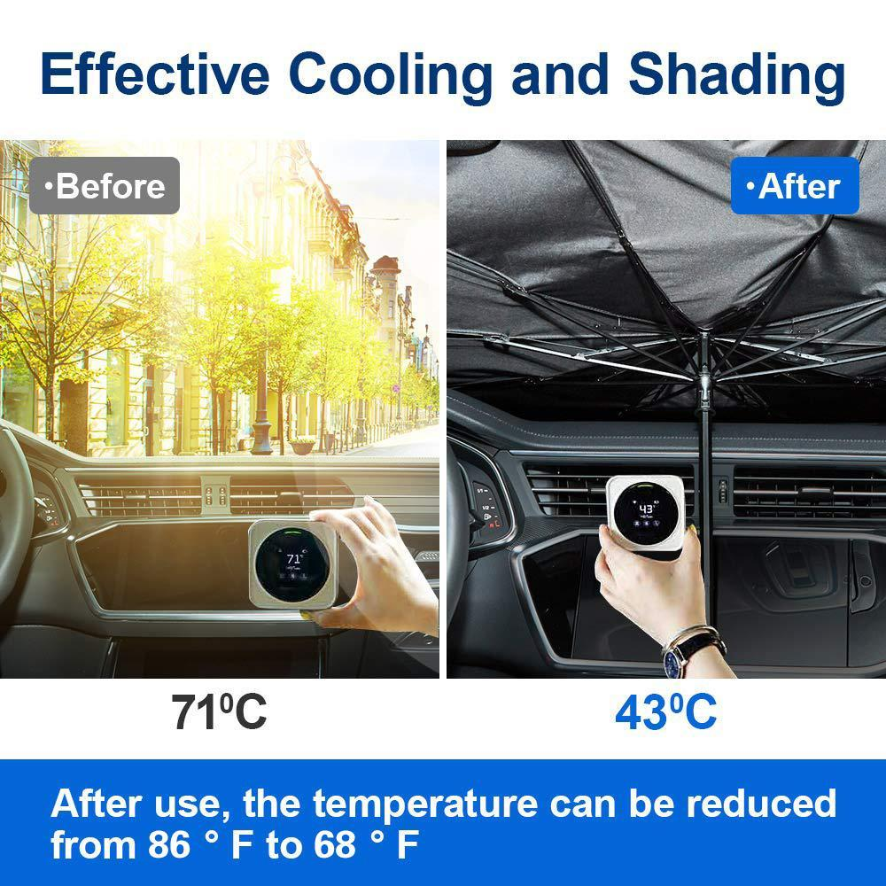 Father's Day Hot Sale🔥Foldable Car Sun Umbrella-Block Heat UV