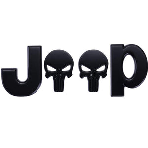 Jeep Skull Emblem Badge