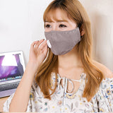 PM2.5 Protective Earloops Anti-smog Dustproof Washable Reusable Cotton Face Cover