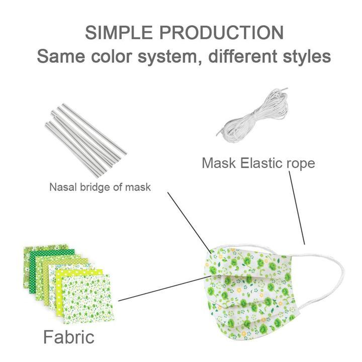 DIY Kit 7 x Different Pattern Artistic fabric Free elastic and metal wire【Flash Sale】