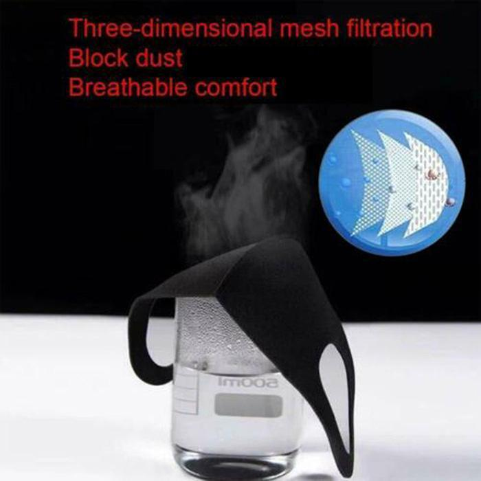 5pcs Mask + 5pcs Filter-washable & Reusable Replaceable Comfort Filter Dust Mask