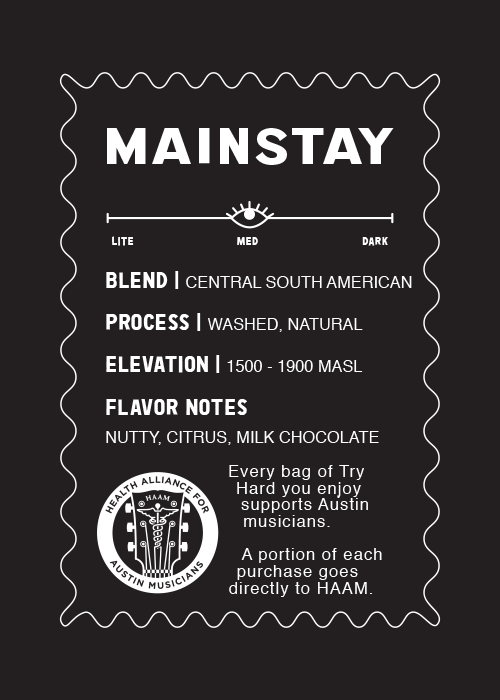 Try Hard Coffee - Mainstay Central South American Blend