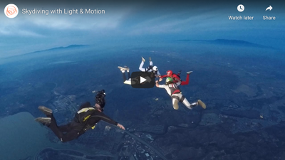 Skydiving with Light & Motion