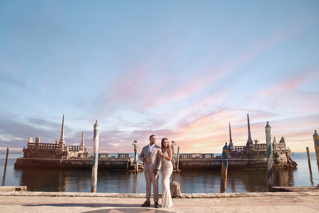 Andre Brown Photography couple by edge of the water and ruins