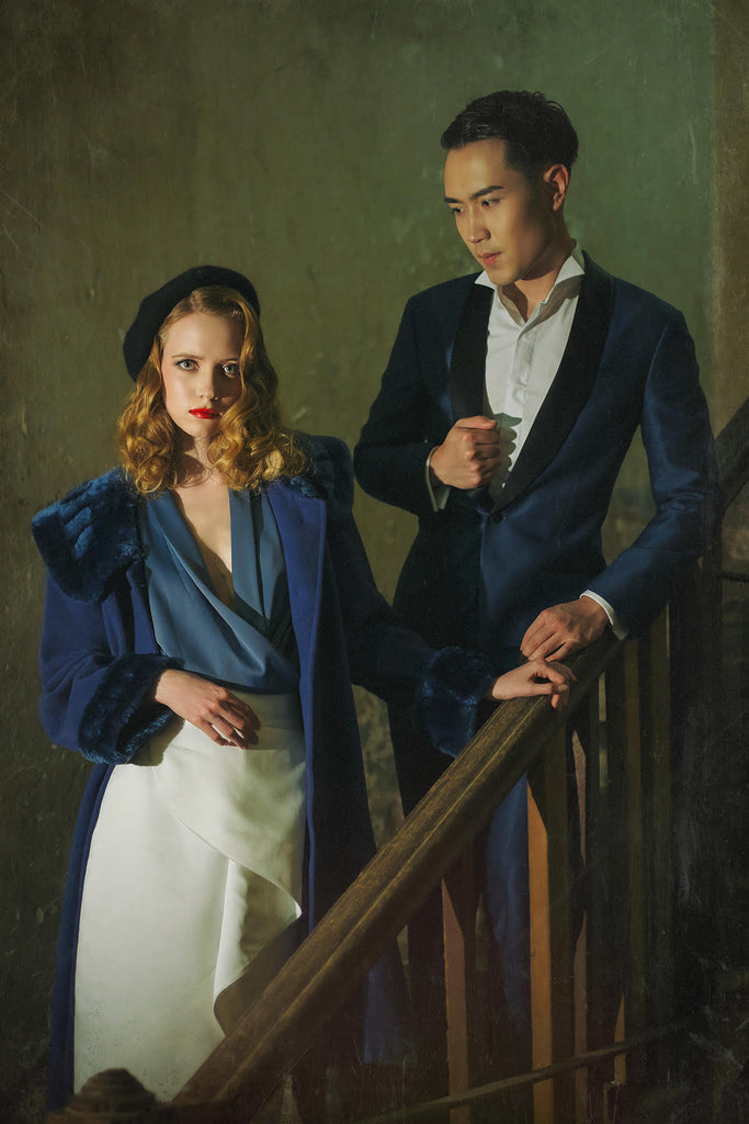 Jeremy Chan portrait of man and woman on stairs