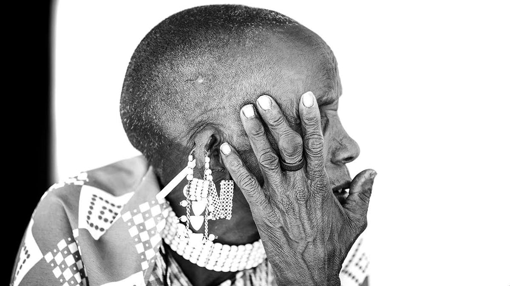 Michelle Valberg Tanzania Masai woman black and white