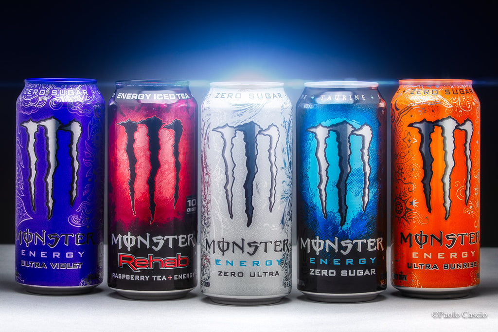 Paolo Cascio colorful cans of Monster