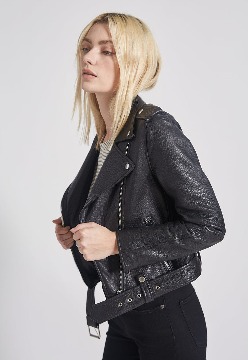 The Shaina Leather Biker Jacket