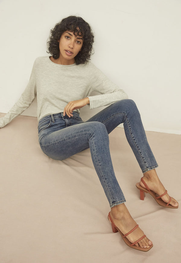 THE ORIGINAL HIGH WAIST ANKLE STILETTO JEAN