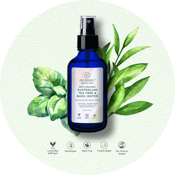 Australian Tea Tree & Basil Water Toner - juicychemistry