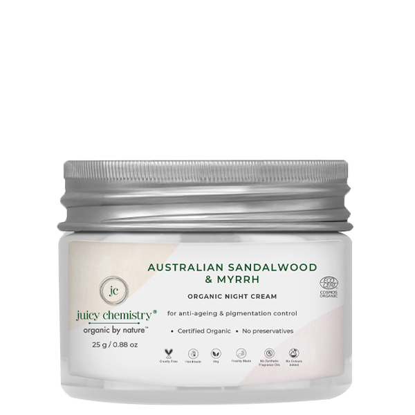 Australian Sandalwood & Myrrh Night Cream - juicychemistry