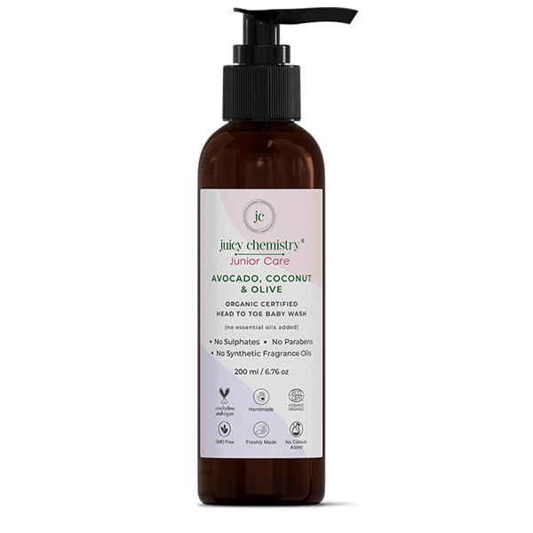 Avocado, Coconut & Olive Head To Toe Baby Wash - juicychemistry