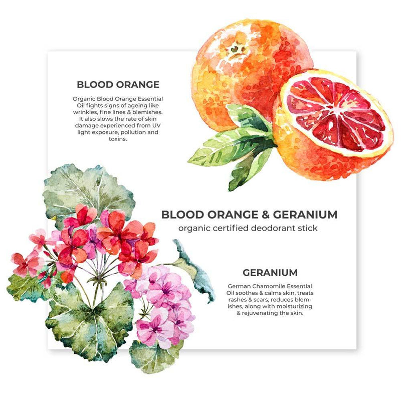 Blood Orange & Geranium Deodorant Stick - juicychemistry