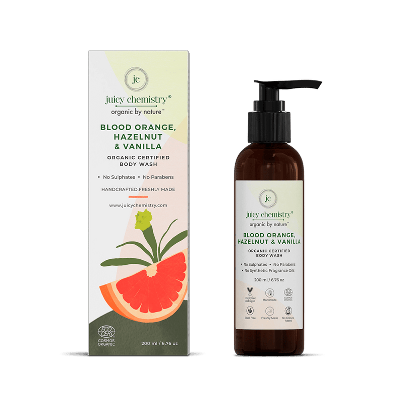 Blood Orange, Hazelnut & Vanilla Organic Body Wash - juicychemistry