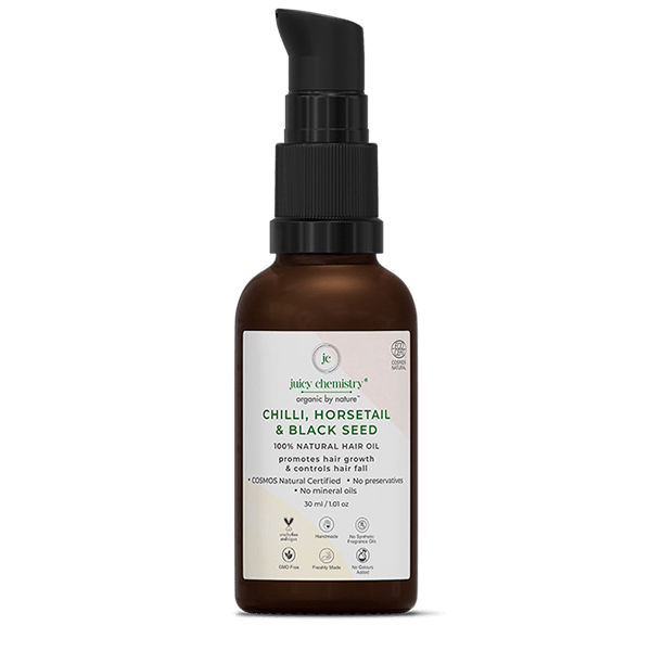 Chilly, Horsetail & Black Seed Hair Oil - juicychemistry