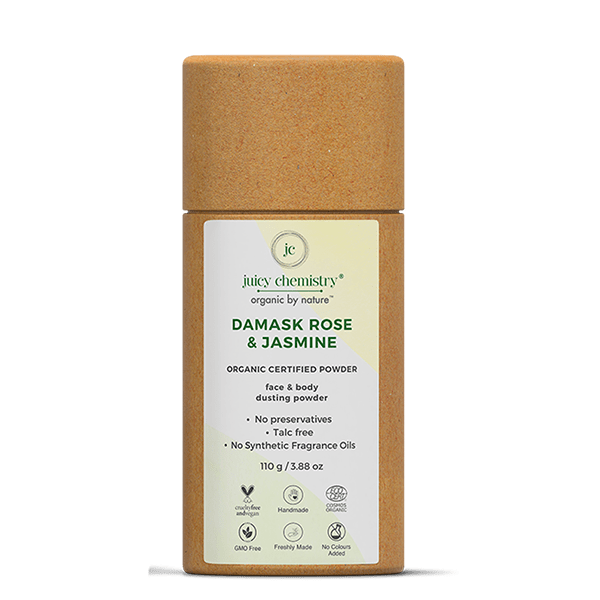 Damask Rose & Jasmine Organic Dusting Powder - juicychemistry