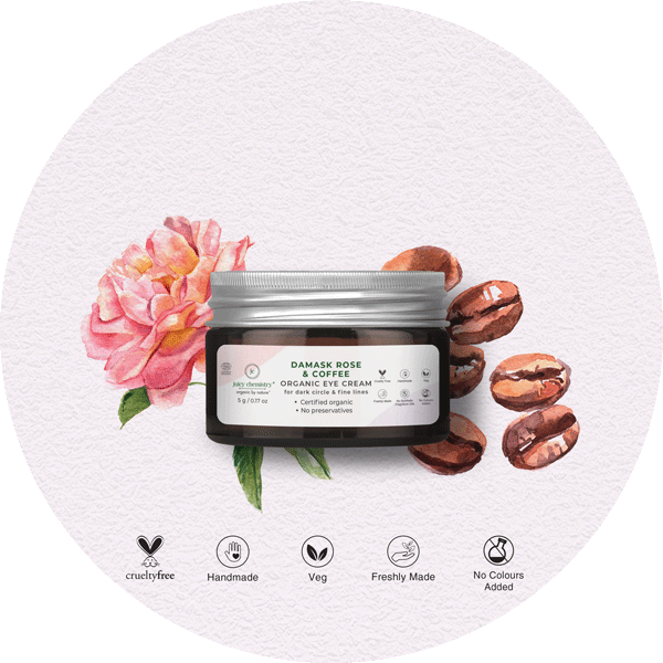 Damask Rose & Coffee Eye Cream - juicychemistry