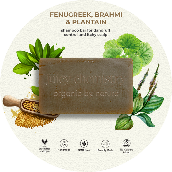 Fenugreek, Brahmi & Plantain Shampoo Bar