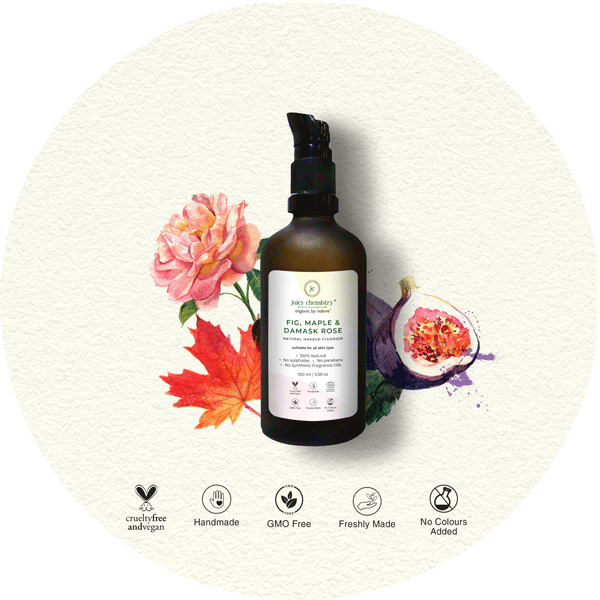 Fig, Maple & Damask Rose Natural Makeup Cleanser - juicychemistry